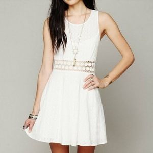 Free People Daisy Lace Boho Mini Dress Sz 10